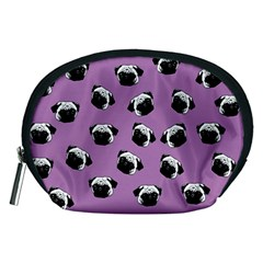 Pug dog pattern Accessory Pouches (Medium)