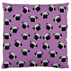 Pug dog pattern Standard Flano Cushion Case (One Side)