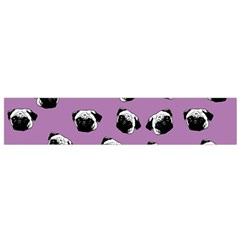 Pug dog pattern Flano Scarf (Small)