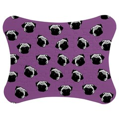Pug dog pattern Jigsaw Puzzle Photo Stand (Bow)