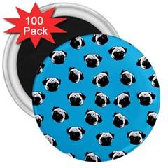 Pug dog pattern 3  Magnets (100 pack)