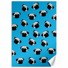 Pug dog pattern Canvas 12  x 18