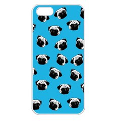 Pug dog pattern Apple iPhone 5 Seamless Case (White)