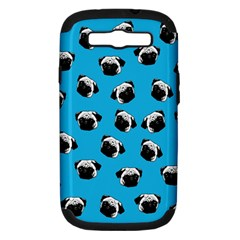 Pug Dog Pattern Samsung Galaxy S Iii Hardshell Case (pc+silicone)