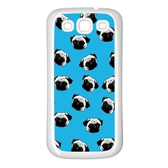 Pug dog pattern Samsung Galaxy S3 Back Case (White)