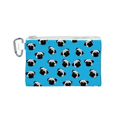 Pug dog pattern Canvas Cosmetic Bag (S)