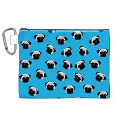 Pug dog pattern Canvas Cosmetic Bag (XL)
