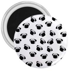 Pug dog pattern 3  Magnets