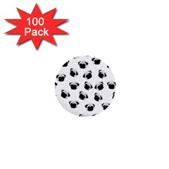 Pug dog pattern 1  Mini Buttons (100 pack)