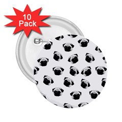 Pug dog pattern 2.25  Buttons (10 pack)