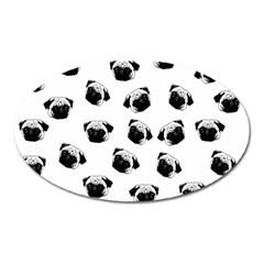 Pug dog pattern Oval Magnet