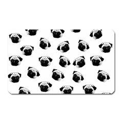 Pug dog pattern Magnet (Rectangular)