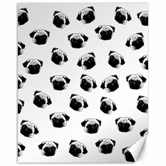 Pug dog pattern Canvas 16  x 20