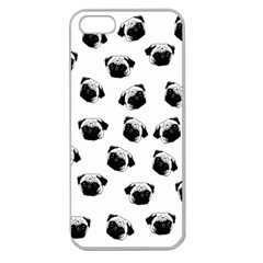 Pug dog pattern Apple Seamless iPhone 5 Case (Clear)