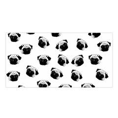 Pug dog pattern Satin Shawl