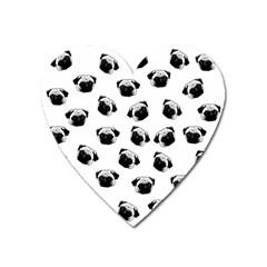 Pug dog pattern Heart Magnet