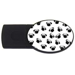 Pug dog pattern USB Flash Drive Oval (2 GB)