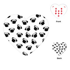 Pug dog pattern Playing Cards (Heart)