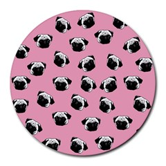 Pug dog pattern Round Mousepads