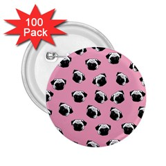 Pug dog pattern 2.25  Buttons (100 pack)