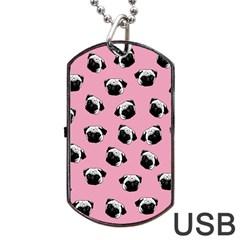 Pug dog pattern Dog Tag USB Flash (Two Sides)
