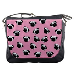 Pug dog pattern Messenger Bags