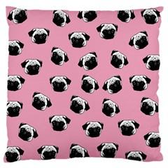 Pug dog pattern Large Cushion Case (Two Sides)