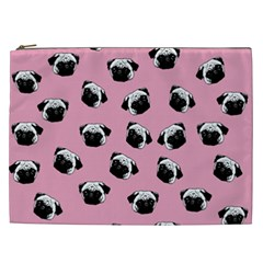 Pug dog pattern Cosmetic Bag (XXL)