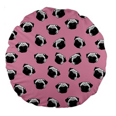 Pug dog pattern Large 18  Premium Round Cushions