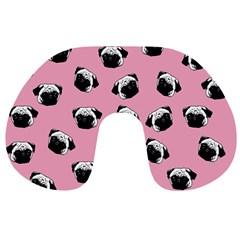 Pug dog pattern Travel Neck Pillows