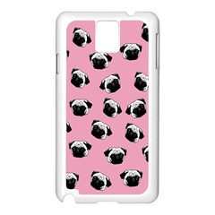 Pug dog pattern Samsung Galaxy Note 3 N9005 Case (White)