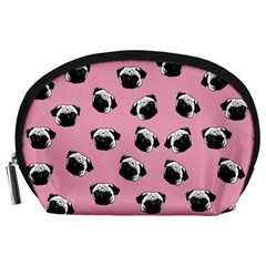Pug dog pattern Accessory Pouches (Large)