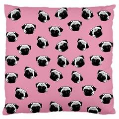 Pug dog pattern Large Flano Cushion Case (Two Sides)