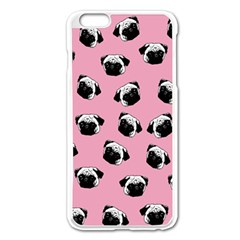 Pug dog pattern Apple iPhone 6 Plus/6S Plus Enamel White Case