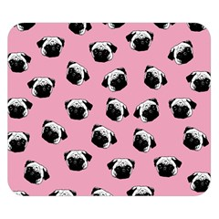 Pug dog pattern Double Sided Flano Blanket (Small)