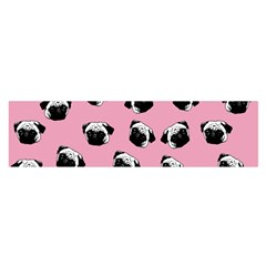 Pug dog pattern Satin Scarf (Oblong)