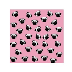 Pug dog pattern Small Satin Scarf (Square)