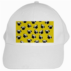 Pug dog pattern White Cap