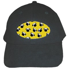 Pug dog pattern Black Cap