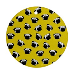 Pug dog pattern Ornament (Round)