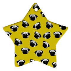 Pug dog pattern Ornament (Star)