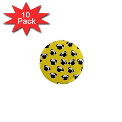 Pug dog pattern 1  Mini Magnet (10 pack)