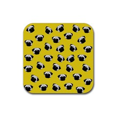 Pug dog pattern Rubber Coaster (Square)