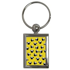 Pug dog pattern Key Chains (Rectangle)
