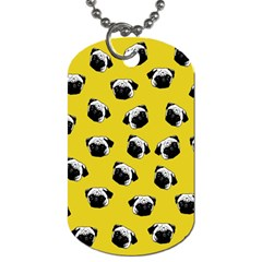 Pug dog pattern Dog Tag (Two Sides)
