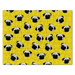 Pug dog pattern Rectangular Jigsaw Puzzl