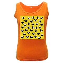 Pug dog pattern Women s Dark Tank Top