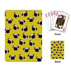 Pug dog pattern Playing Card