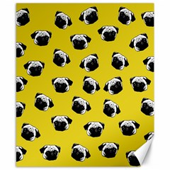 Pug dog pattern Canvas 8  x 10