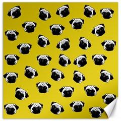 Pug dog pattern Canvas 12  x 12